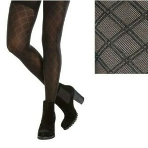 Spanx Patterned Tights Black Diamond Pattern Tight